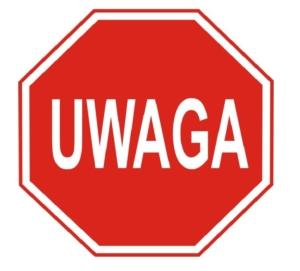 Znak Uwaga