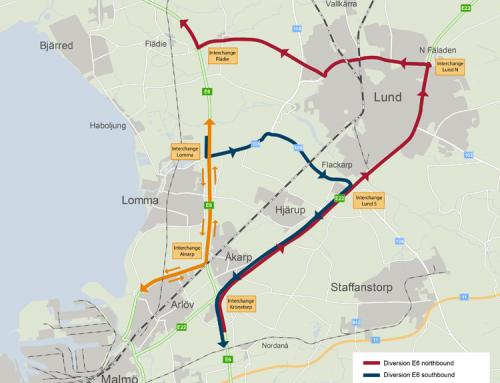 Szwecja. Odcinek autostrady E6 na północ od Malmö jest całkowicie zamknięty. Wyznaczono objazdy. Ważna informacja o ruchu drogowym na jesień 2018