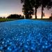 Polska prezentuje świecący na niebiesko pas rowerowy, który jest naładowany przez słońce...