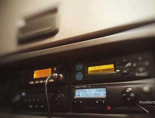 Kiedy możemy jechać na opcji OUT w tachografie ciągnikiem siodłowym.