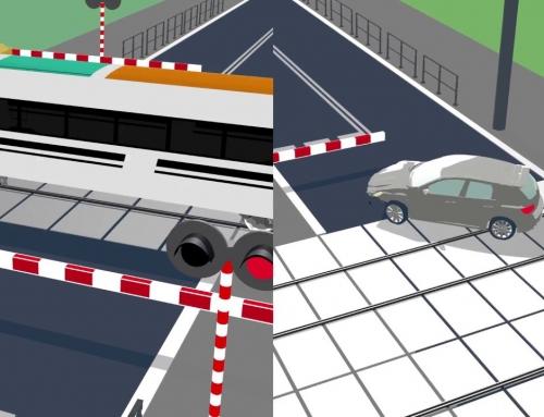 Jak szybko zgłosić wypadek lub awarię samochodu na przejeździe kolejowym. #ŻółtaNaklejkaPLK na wszystkich przejazdach.