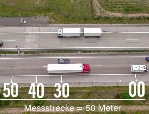 Niemiecka policja monitoruje ciężarówki na A12 za pomocą drona