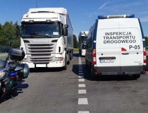 24 mandaty dla kierowców ciężarówek za wyprzedzanie na zakazie – autostrada A4
