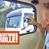 Niemcy. Policja kontroluje kierowców ciężarówek na autostradzie używając kampera. (wideo)