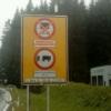 Austria. Autostrada Innsbruck-Bregenz ZAKAZ TRANZYTU. Uwaga na mandaty.